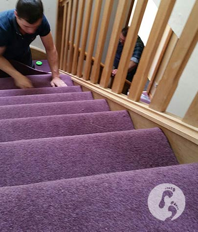 Walkers Carpets and Flooring fitting carpet